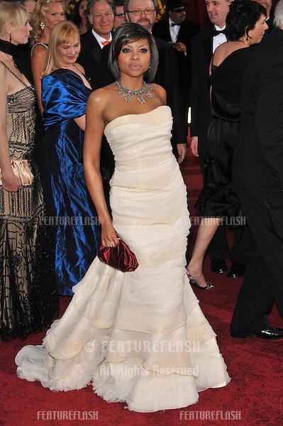Taraji P. Henson at the 81st Academy Awards at the Kodak Theatre, Hollywood..February 22, 2009  Los Angeles, CA.Picture: Paul Smith / Featureflash