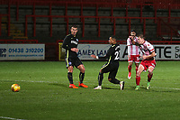 Alex Samuel of Stevenage scores the third goal for his team during Stevenage vs Brighton & Hove Albion Under-21, Checkatrade Trophy Football at the Lamex Stadium on 7th November 2017