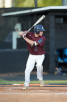 Austin Dayvault (11) of Kannapolis Post 115 at bat against Mooresville Post 66 during an American Legion baseball game at Northwest Cabarrus High School on May 30, 2019 in Concord, North Carolina. Mooresville Post 66 defeated Kannapolis Post 115 4-3. (Brian Westerholt/Four Seam Images)