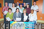 PLAN: In The KDYS ON Wednesday  Tralee Youth Reach launched their Centre Development Plan 2011-2014 at the launch: Front l-r: Margaret Culloty, Shinaun Shanahan (KES), Gemma O'Brien and Haytat Taher. Back l-r: Conor Callaghan, Venessa O'Brien, Patrick Ronan, Aiosling McCarthy, Louckas Murphy, Susan Kelly(Staff KDYS), and Tony Laws.................... . ............................... ..........