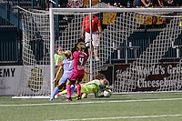 Western New York Flash goalkeeper Sabrina D'Angelo (1) makes a save during 2-2 tie with the Houston Dash