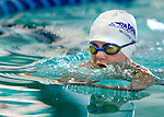 Treehouse's Maura Henry competes in the 25 yard breast race during the 53rd annual Country Club Swimming Championships on Monday, Aug. 6, 2012, in Kearns, Utah. (© 2012 Douglas C. Pizac)