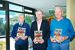 Holy Family School Launch 40 years booklet on Friday. Pictured three Principals Michael Hayes (1976-1992), Ed O'Brien (2009 -) and John O'Connor (1992-2009)