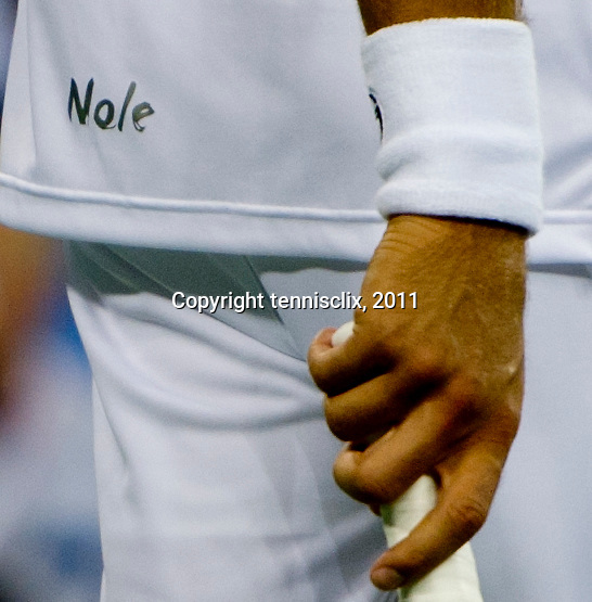 Novak Djokovic's customized shirt logo