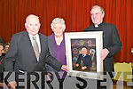 Presentation : Canon Declan O'Connor. PP Listowel presenting a special Photo montage to Michael O'Sullivan to honour all his contributions to life in Listowel at a function in St Patrick's Hall, Listowel on Tuesday evening last. L - R : Michael & Catherine O'Sullivan & Canon Declan O'Connor.