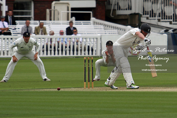 Ben Stokes guides the ball onto the leg side Middlesex CCC v Durham CCC. Liverpool Victoria County Championship Division One. Lords Cricket Ground. London. Middlesex. 02/08/2013. MANDATORY Credit Robert Smith/SIPPA - NO UNAUTHORISED USE - 07837 394578