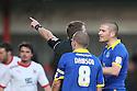 Ben Chorley of Leyton Orient (r) is sent off by Referee Darren Sheldrake.- Stevenage v Leyton Orient- npower League 1 - Lamex Stadium, Stevenage - 2nd January 2012  .© Kevin Coleman 2012