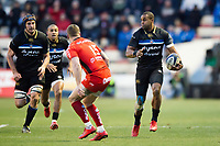 Aled Brew of Bath Rugby in possession. European Rugby Champions Cup match, between RC Toulon and Bath Rugby on December 9, 2017 at the Stade Mayol in Toulon, France. Photo by: Patrick Khachfe / Onside Images