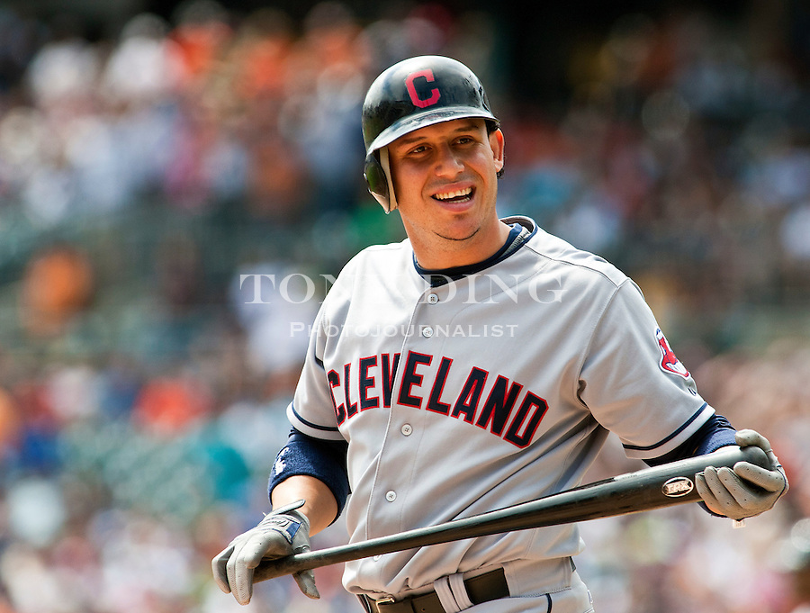 21 August 2011: Cleveland Indians shortstop Asdrubal Cabrera (13) steps up to bat during the Cleveland Indians at Detroit Tigers Major League Baseball game at Comerica Park, in Detroit, Michigan. The Tigers won 8-7, completing a three game sweep and keeping the lead in the American League Central Division. (Tony Ding/Icon SMI)