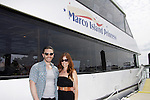 Tom Pelphrey & Melissa Archer donated time at 15th Southwest Florida Soapfest 2014 Charity Weekend - at Cruisin' and Schmoozin' on May 25, 2104 aboard the Marco Island Princess (boat), Marco Island, Florida.  (Photo by Sue Coflin/Max Photos)