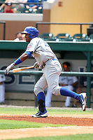 Daytona Cubs designated hitter Nelson Perez #16 during a game against the Lakeland Flying Tigers at Joker Marchant Stadium on April 29, 2012 in Lakeland, Florida.  Lakeland defeated Daytona 6-4.  (Mike Janes/Four Seam Images)