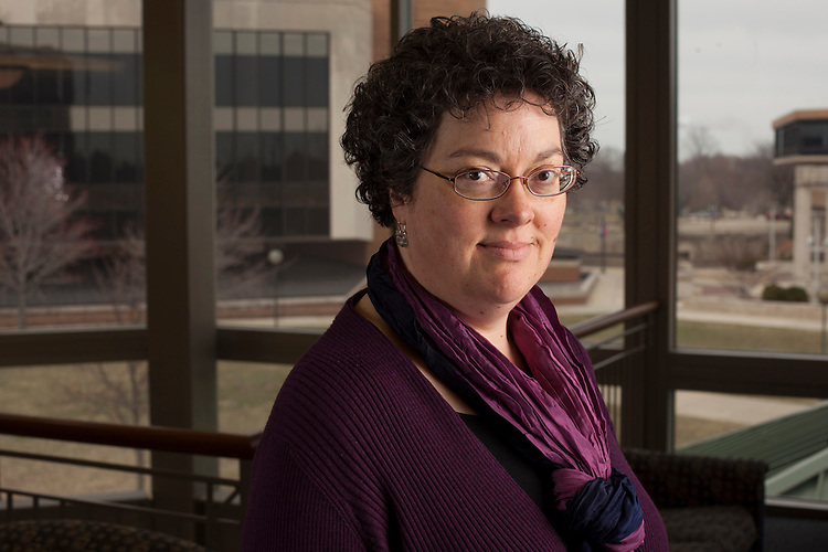Dr. Lynn Fisher, associate professor of Sociology/Anthropology at the University of Illinois Springfield, is concerned about how she and other public university faculty will pay for retirement.<br /> Kristen Schmid for the Chronicle