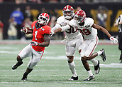 January 8th 2018, Atlanta, GA, USA;  Georgia Bulldogs running back Sony Michel (1) outruns the Alabama defense during the College Football Playoff National Championship Game between the Alabama Crimson Tide and the Georgia Bulldogs on January 8, 2018 at Mercedes-Benz Stadium in Atlanta, GA.