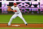 6 September 2011: Washington Nationals infielder Danny Espinosa in action against the Los Angeles Dodgers at Nationals Park in Washington, District of Columbia. The Dodgers defeated the Nationals 7-3 to take the second game of their 4-game series. Mandatory Credit: Ed Wolfstein Photo