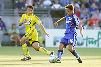 Josh Wolff #16, Jed Zayner..Columbus Crew defeated Kansas City Wizards 2-0 at Community America Ballpark, Kansas  City, Kansas.