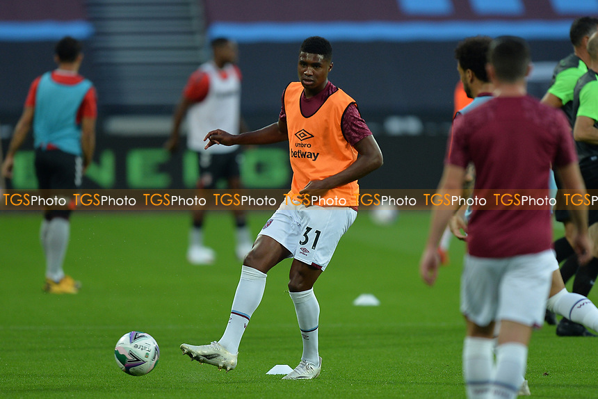 Ben Johnson of West Ham United during West Ham United vs Charlton Athletic, Caraboa Cup Football at The London Stadium on 15th September 2020