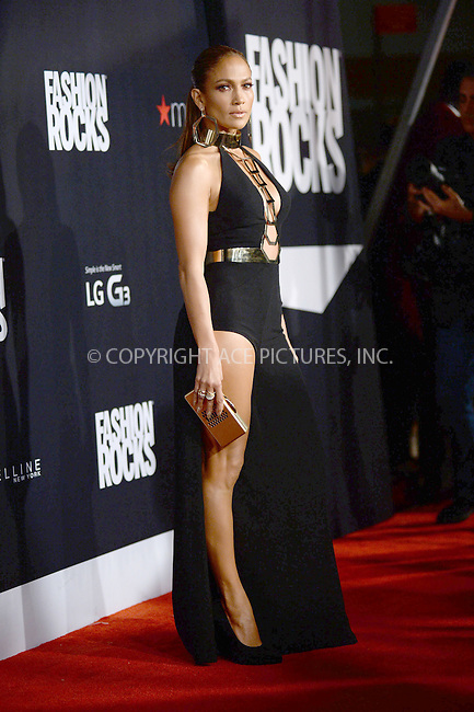 WWW.ACEPIXS.COM<br /> September 9, 2014 New York City<br /> <br /> Jennifer Lopez attending Fashion Rocks 2014 at the Barclays Center on September 9, 2014 in New York City.<br /> <br /> Please byline: Kristin Callahan/AcePictures<br /> <br /> ACEPIXS.COM<br /> <br /> Tel: (212) 243 8787 or (646) 769 0430<br /> e-mail: info@acepixs.com<br /> web: http://www.acepixs.com