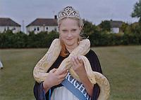 2015 Princess of Brightlingsea, Skye Claydon with her Burmese Python