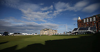The R&A Golf Club of St Andrews building as backdrop to the 18th during the practice days before the 2014 Alfred Dunhill Links Championship, The Old Course, St Andrews, Fife, Scotland. Picture:  David Lloyd / www.golffile.ie