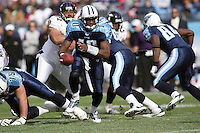 Titans quarterback Vince Young in action during the first quarter at LP Field in Nashville, Tennessee on November 12, 2006. The Baltimore Ravens won 27-26.