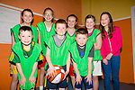 Scart Legends U12s. Diarmuid Daly, Kaylan Buckley, Michéal Murphy, Gabrielle O'Brien, Olga O'Sullivan, Lisa Brown, Niamh Relihan  and Emma Brown. taking part in An Garda Síochána and Kerry Youth Service annual Basketball Blitz tournament at Castleisland Community Centre on Friday