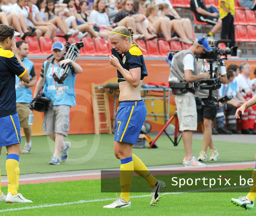 Fifa Women's World Cup Germany 2011 : Colombia - Sweden at Bayarena Leverkusen : Sara Larsson..foto DAVID CATRY / Vrouwenteam.be