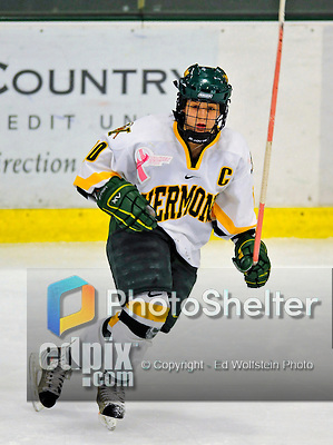 8 February 2009: University of Vermont Catamounts' forward and Team Captain Chelsea Furlani, a Junior from Colchester, VT, in action against the University of New Hampshire Wildcats in the second game of a weekend series at Gutterson Fieldhouse in Burlington, Vermont. The Wildcats defeated the lady Catamounts 6-2 to sweep the 2-game series. Mandatory Photo Credit: Ed Wolfstein Photo
