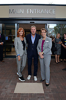 BNPS.co.uk (01202 558833)<br /> Pic: PooleHospital/BNPS<br /> <br /> Harry & Sandra with Poole hospital Ch Exec Debbie Fleming.<br /> <br /> I'm A Celebrity winner Harry Redknapp has praised the hospital staff who saved his wife's life a year ago.<br /> <br /> The retired football manager made the comments while unveiling a plaque at the new entrance of Poole Hospital in Dorset.<br /> <br /> His wife Sandra, who also attended the ceremony, fell seriously ill after contracting sepsis last year.<br /> <br /> She was rushed to the hospital in an ambulance where she was able to make a full recovery.