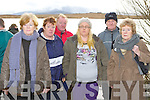 Neilie O'Connor's partner Mellisa Clifford  centre waits for the news on the search for his recovery on the shore of Loch Gaineamhaim, Cromane on Monday with his father Freddy fifth from left, his uncle Mike (Fox) and his aunts Helen Walters, Ann Ryle and Alice Tiernan