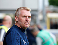 Brentford manager, Dean Smith seen during the Carabao Cup match between AFC Wimbledon and Brentford at the Cherry Red Records Stadium, Kingston, England on 8 August 2017. Photo by Carlton Myrie.