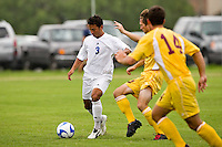 SAN ANTONIO, TX - AUGUST 26, 2007: The Midwestern State University Mustangs vs. the St. Mary's University Rattlers Men's Soccer at the St. Mary's Soccer Field. (Photo by Jeff Huehn)