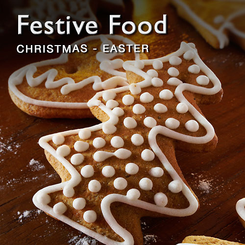 Food pictures & images of festive food including Christmas, Easter & Valentines Day