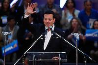 SAO PAULO, SP, 24 JUNHO 2012 - CONVENÇAO PSDB  Prefeito da cidade de Sao Paulo, Giberto Kassab durante convenção do PSDB para lancamento da candidatura do tucano José Serra no Ginásio Mauro Pinheiro (Ibirapuera) nesse domingo, 24. FOTO: VANESSA CARVALHO - BRAZIL PHOTO PRESS.