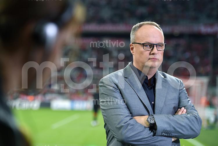 FUSSBALL   CHAMPIONS LEAGUE   SAISON 2014/2015   Vorrunde FC Bayern Muenchen - Manchester City       17.09.2014 ZDF Sport-Moderator Oliver Welke