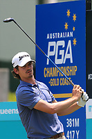 Pedro Figueiredo (POR) on the 10th tee during Round 3 of the Australian PGA Championship at  RACV Royal Pines Resort, Gold Coast, Queensland, Australia. 21/12/2019.<br /> Picture Thos Caffrey / Golffile.ie<br /> <br /> All photo usage must carry mandatory copyright credit (© Golffile | Thos Caffrey)