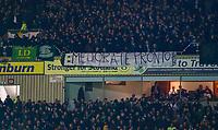 5th February 2020; Fir Park, Motherwell, North Lanarkshire, Scotland; Scottish Premiership Football, Motherwell versus Celtic; Celtic fans banner
