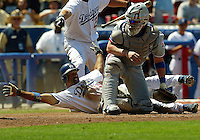 Dave Roberts In an MLB game played at Dodger Stadium between the Montreal Expos and the Los Angeles Dodgers