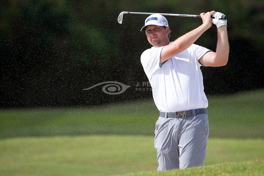 Brice Garnett, born September 6, 1982, is an American professional golfer who competes on the PGA Tour. After attending Missouri Western State University, where he was a three-time NCAA Division II All-American, he turned pro in 2006. He played on the Adams Pro Tour from 2007 to 2009. From 2010 to 2013, he played on the Web.com Tour. Garnett improved his money list rank each season, culminating with a 14th-place finish in 2013 which earned him a card for the 2014 PGA Tour. During his rookie season on the PGA Tour, he made 20 cuts in 28 events, highlighted by a tie for seventh at the Shell Houston Open. He qualified for the 2014 FedEx Cup Playoffs, one of only two rookies to do so, the other being Chesson Hadley.