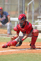St. Louis Cardinals minor league player Robert Stock during a spring training game vs the Florida Marlins at the Roger Dean Sports Complex in Jupiter, Florida;  March 25, 2011.  Photo By Mike Janes/Four Seam Images