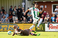 ROTINGHAUSEN - Voetbal, Sankt Pauli - FC Groningen, oefenduel, 01-09-2017,  FC Groningen speler Uriel Antuna in duel met Christopher Avevor