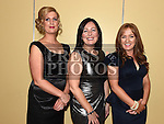 Serena Smith, Pauline Carolan and Lisa Neasy pictured at the Team Carrie end of season dinner in the Grove Hotel Dunleer. Photo:Colin Bell/pressphotos.ie