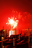 ITALY, Venice. New Year's Eve fireworks display over the Grand Canal and island of San Giorgio Maggiore in the distance.