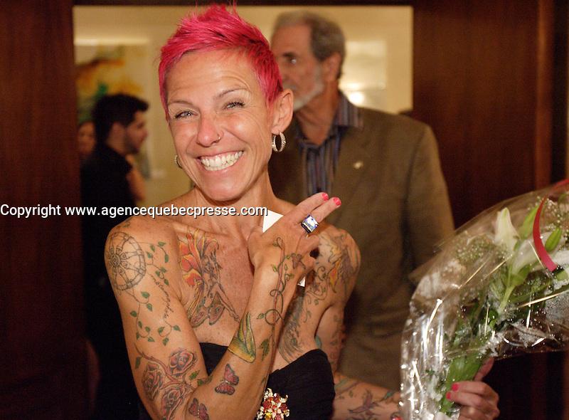 Montreal (Qc) Canada - Sept  2011 File Photo - <br /> Vernissage of VeroniKah Solo au Club Saint-James-