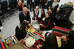 Palestinian Prime Minister Mohammad Ishtayeh meets with children who are participate in summer camps, at his headquarter in the Wet Bank city of Ramallah, July 31, 2019. Photo by Prime Minister Office