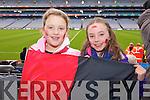 Rachel O'Sullivan and Aisling O'Sullivan (Kenmare) pictured at Croke Park on Sunday for the Kenmare vs Ballinasloe final.