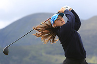 Letizia Bagnoli (ITA) on the 2nd tee during Round 1 of the Women's Amateur Championship at Royal County Down Golf Club in Newcastle Co. Down on Tuesday 11th June 2019.<br /> Picture:  Thos Caffrey / www.golffile.ie<br /> <br /> All photos usage must carry mandatory copyright credit (© Golffile | Thos Caffrey)