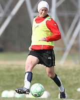 Joanna Lohman during Washington Freedom  practice and media event at the Maryland Soccerplex on March 25 in Boyd's, Maryland.
