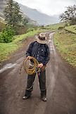 USA, Oregon, Joseph, portrait of cowboy Cody Ross in the canyon up Big Sheep Creek in Northeast Oregon
