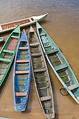 Altamira, Brazil. Wooden voadeira boats.