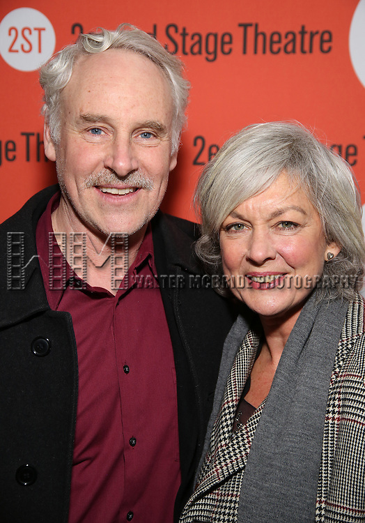 John Dossett and Michele Pawk attend the Off-Broadway Opening Night performance of 'Man From Nebraska' at the Second StageTheatre on February 15, 2017 in New York City.